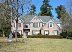 a home with an asphalt shingle roof