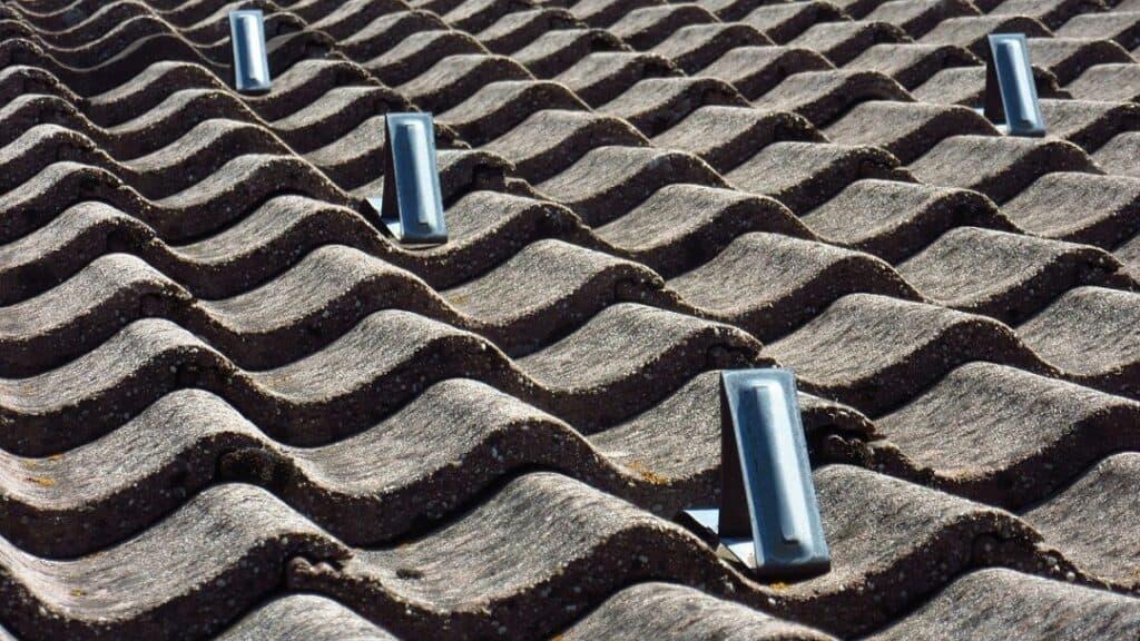 closeup of a shingled roof