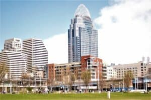 downtown Cincinnati, OH