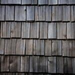 closeup of wood shakes on a roof