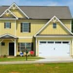 a yellow suburban home